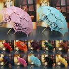 Lace Cotton Embroidery Wedding Sun Umbrella Bridal Parasol Photo Props Handmade