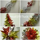 Christmas Foil Ceiling Decorations Garlands Stars bell  Snowflakes multi colour