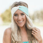 Women Yoga Elastic Twisted Turban Knot Head Wrap Headband Hair Band
