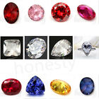 1pc Artificial Round Oval Cut Shaped Stunning Lustrous Sapphire Loose Gemstone