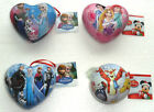 Disney Christmas Keepsake Tin Bauble Frozen Elsa Princess Winnie/Tigger Hanging