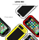 LOVE MEI Protective Hard Cover Case f. iPhone 7/ 7 Plus Gorilla Glass Waterproof