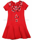 Deux par Deux Girls' Red Flounced Dress 30 Years of Style, Sizes 6-12