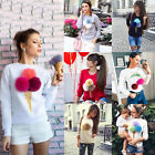 New Autumn Women Long Sleeve Casual Loose Pullover Sweaters Tops Jumper Knitwear