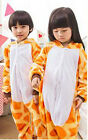 Kids Animal Cartoon Yellow Giraffe Pajamas Child Animal Sleepwear Kigurumi