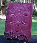 Lg Custom Wood & Leather Blank Journal, Diary, Book of Shadows - Goddess & Ivy