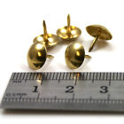 8 x 10mm GOLD UPHOLSTERY FURNITURE PINS CHAIR TACK DOME NAIL STUDS REPAIR H540