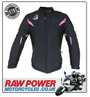 Richa LADIES Kayla Motorcycle Motorbike Jacket - Black/Pink