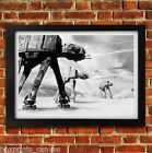 AT AT WALKER STAR WARS MOVIE POSTER FRAMED WALL ART PRINT PICTURE S M LARGE