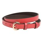 "Ladies Slim Leather Belt 20mm 3/4"" Trouser Jean Belts Smooth Easy Use"