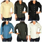 Womens Hartwell Corporate Wear 3/4 Sleeve Button Down Tailored Shirt LARGE