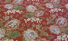 NEW-60 Inches Wide-100% Cotton Fabric- Bold Vintage Floral Design on Deep Rust