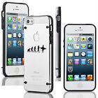 For Apple iPhone SE 5s 6 6s 7 Plus Slim Clear TPU Hard Case Cover Evolution Surf