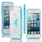 For iPhone SE 5s 5c 6 6s 7 Plus Slim Clear TPU Hard Case Female Soccer Player