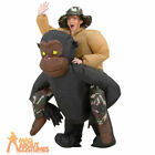 Adult Inflatable Riding Gorilla Costume Stag Funny Mens Fancy Dress Outfit New