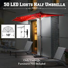 10ft Battery Operated LED Light Half Umbrella Patio Outoor Wall Balcony Window