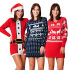 Ladies Womens Novelty Christmas Xmas Knitted Tunic Retro Party Dress Jumper 2016