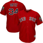 David Ortiz Red Sox 2016 Cool Base Majestic Red Jersey with Retirement Patch