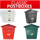 Post Box Vintage Mailbox For House Mounted Outdoor Letterbox Mail Horn Lockable