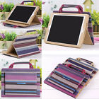 Luxury 2 Pockets Leather Handbag Portable Stand Smart Case For iPad 3 4 Air Mini