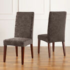Sure Fit Stretch Jacquard Damask Short Dining Room Chair Cover