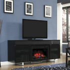 Classic Flame New Enterprise Fireplace Media Mantel with Tempered Glass Door