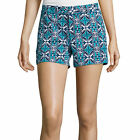 Stylus Twill Cotton Shorts Size 2, 6, 16 New Msrp $32.00 Island Teal Geo