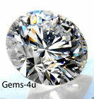 LAB CREATED HEARTS & ARROW DIAMOND ROUND STONE 1MM - 10MM FAST & FREE DELIVERY
