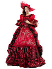 Red 17 Century Marie Antoinette Baroque Rococo The Prom Dress Gothic Dress Line