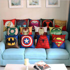 spiderman pillow - Decorative Cushion Cover Superhero Batman Throw Pillow Case Room Sofa Home Décor