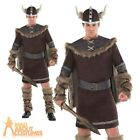 Adult Viking Warrior Costume Deluxe Mens Fancy Dress + Hat New