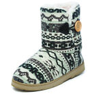New Ladies Dr Keller Comfort Boot Slippers Patterned Fleece Lined Size 3 4 5 6 7