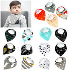 New  4pcs Cotton Baby Feeding Unisex Saliva Towel Dribble Triangle Bandana Bibs