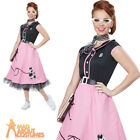 Adult 50s Sweetheart Costume 1950s Poodle Nifty Fifties Fancy Dress Grease Dress