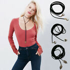 New Womens Vintage Charming Leather Bow Wrap Pendant Choker DIY Necklace Jewelry
