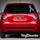 Polycystic Ovarian Syndrome Awareness Ribbon  Vinyl Wall Decal or Car Sticker