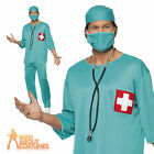 Mens Surgeon Costume Scrubs Doctor Hospital Uniform Fancy Dress Outfit
