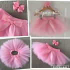 Pink Girls Kids Christmas Tutu Skirt & Bow Outfit Party Dance Ballet Birthday