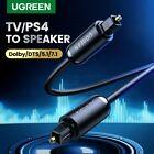 UGREEN Premium Digital Audio Optical Cable Toslink SPDIF Cord Fr CD DVD PS3 Xbox