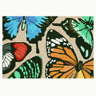 Trans-Ocean Front Porch Rug - Butterfly Dance