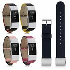 For Fitbit Charge 2 Genuine Leather Wrist Band Smart Watch Strap Bracelet Luxury