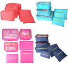 6 Pieces Set Travel Pouch Organizer Clothes Luggage Cosmetic Storage Bag Packing
