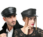 2017 New Men's Women's (100% Genuine Leather) Beret Hat,Navy cap,Army Cap