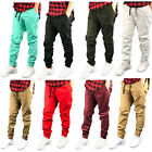 Mens Twill DENIM Joggers Solid SLIM  Twill Drawstring Jogger pants slim pants