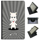 Scottish Cartoon Dogs Universal Folio Leather Case For ACER Tablets