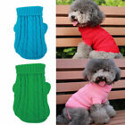 Dog Pet Winter Clothe Warm Sweater Knitwear Puppy Outwear Apparel+Get 1Tie Color