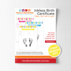 Inkless Print Baby Birth Certificate Kit - Baby Gift Keepsake - Pink/Blue/Yellow