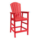 C.R.Plastic Products Generations Dining Adirondack Style Pub Arm Chair
