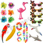 HAWAIIAN FLOWER HAIRCLIP LEI FLOWER GARLAND GLASSES INFLATABLES HULA FANCY DRESS