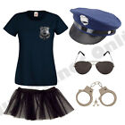 LADIES NEW YORK AMERICAN POLICE WOMAN COP FANCY DRESS COSTUME HEN PARTY